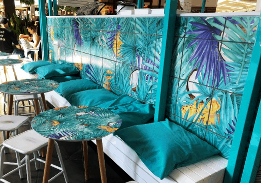 wonderful tiles art creativity that matches with table