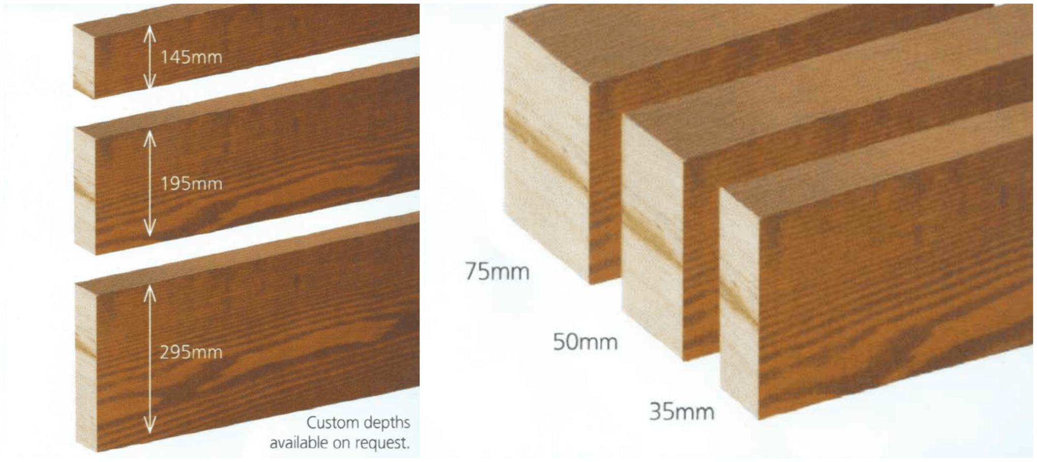 custom size plywood depths available on request