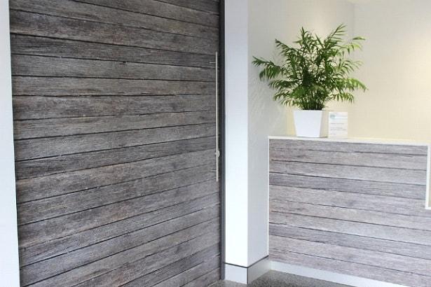 lightweight solid core doors using Balsa end-grain