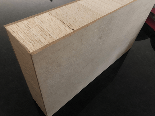 sustainable composite panel made from falcata tree
