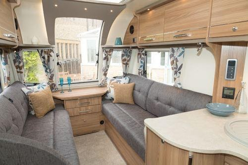 campervan wood cabinetry with comfortable view