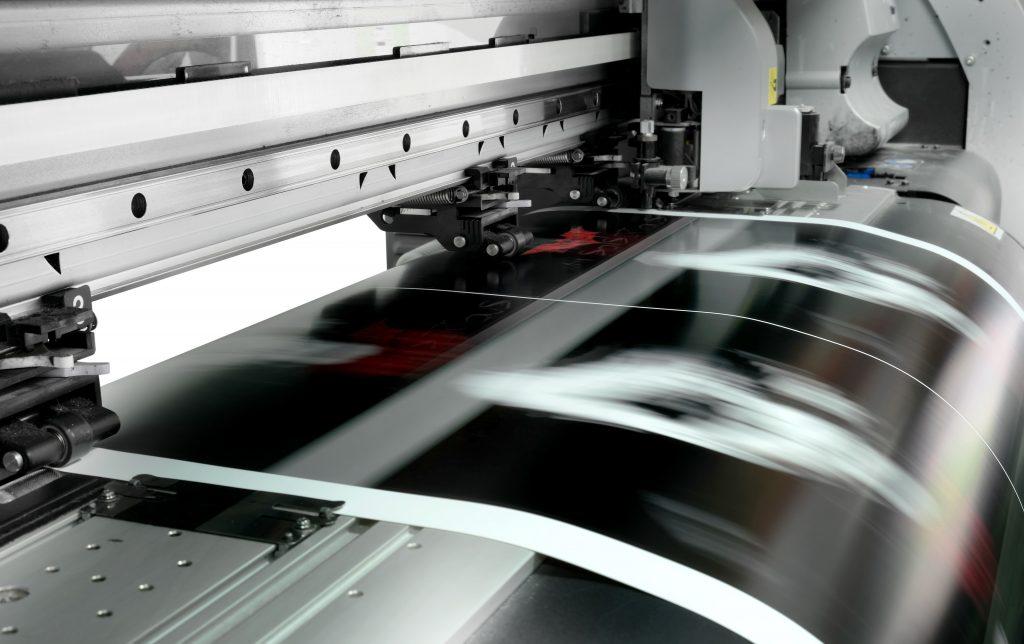 Large format UV digital printing